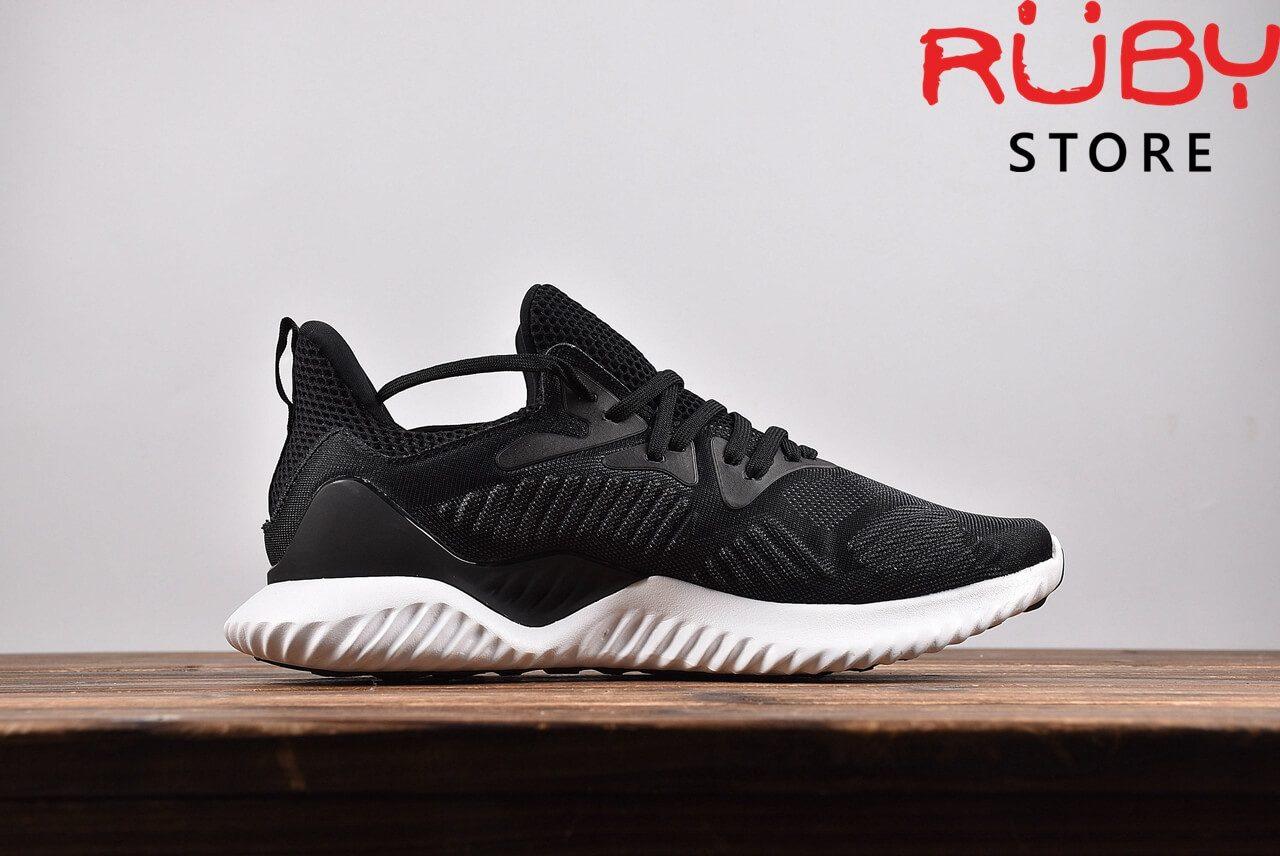 Giày Adidas Alphabounce Beyond Đen Đế Trắng 2018 -chụp ngang bên