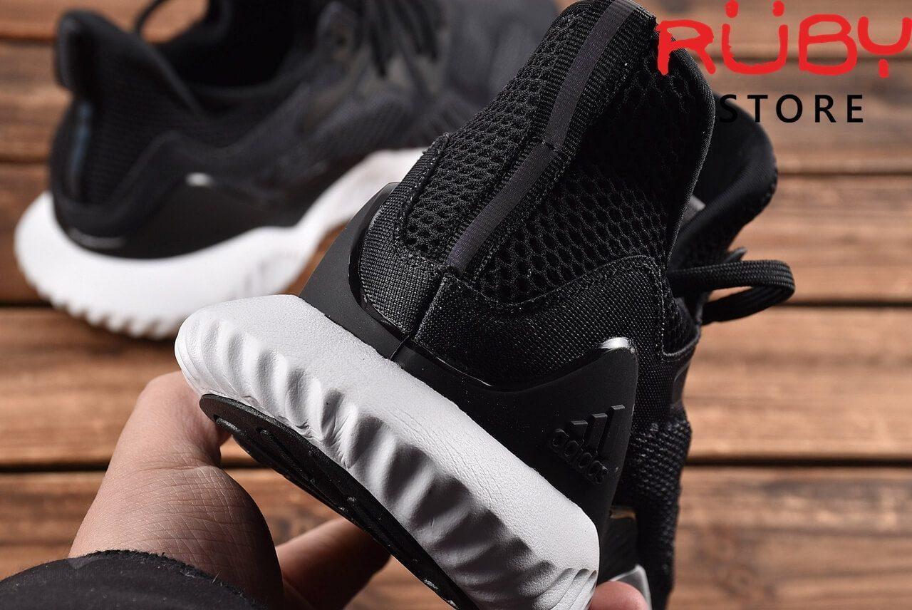 Giày Adidas Alphabounce Beyond Đen Đế Trắng 2018 - phần gót