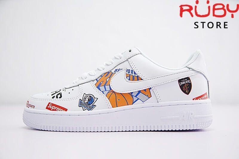 Nike Air Force 1 Mid Supreme NBA White Replica. Free ship nội thành ... e6c21ed9d196