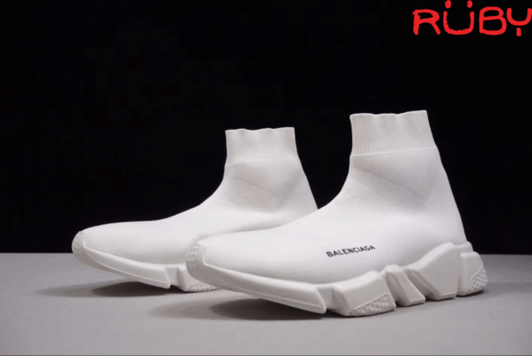 Tổng thể đôi Giày Balenciaga Speed Trainer Trắng