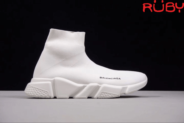 Mặt phải Giày Balenciaga Speed Trainer Trắng