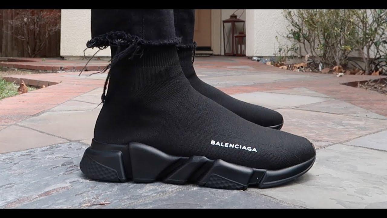 Giày Balenciaga Speed Trainer Đen Full (PK God)