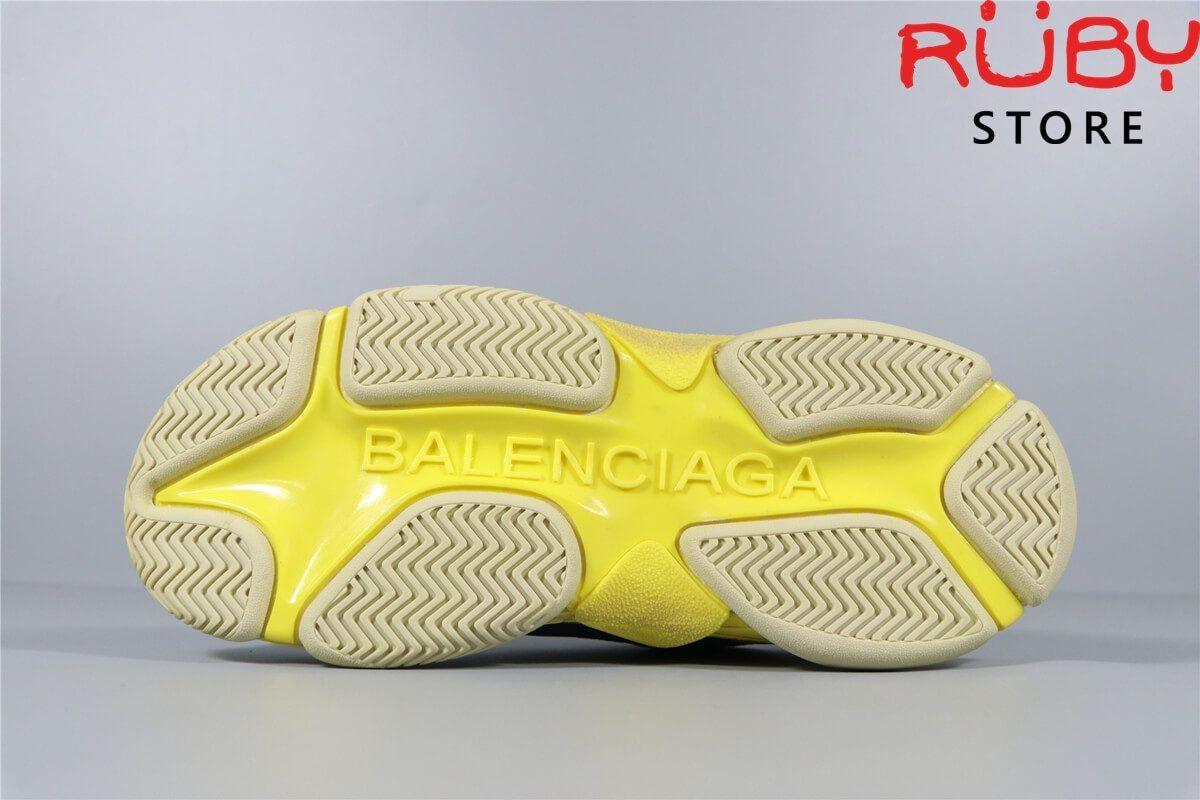 Phần đế giày Balenciaga Triple S Xanh Dương