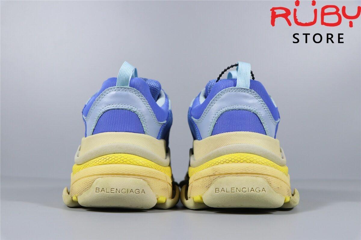 Phần gót giày Balenciaga Triple S Xanh Dương