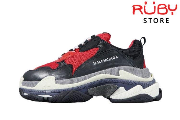Giày Balenciaga Triple S Đỏ Đen Replica 1:1