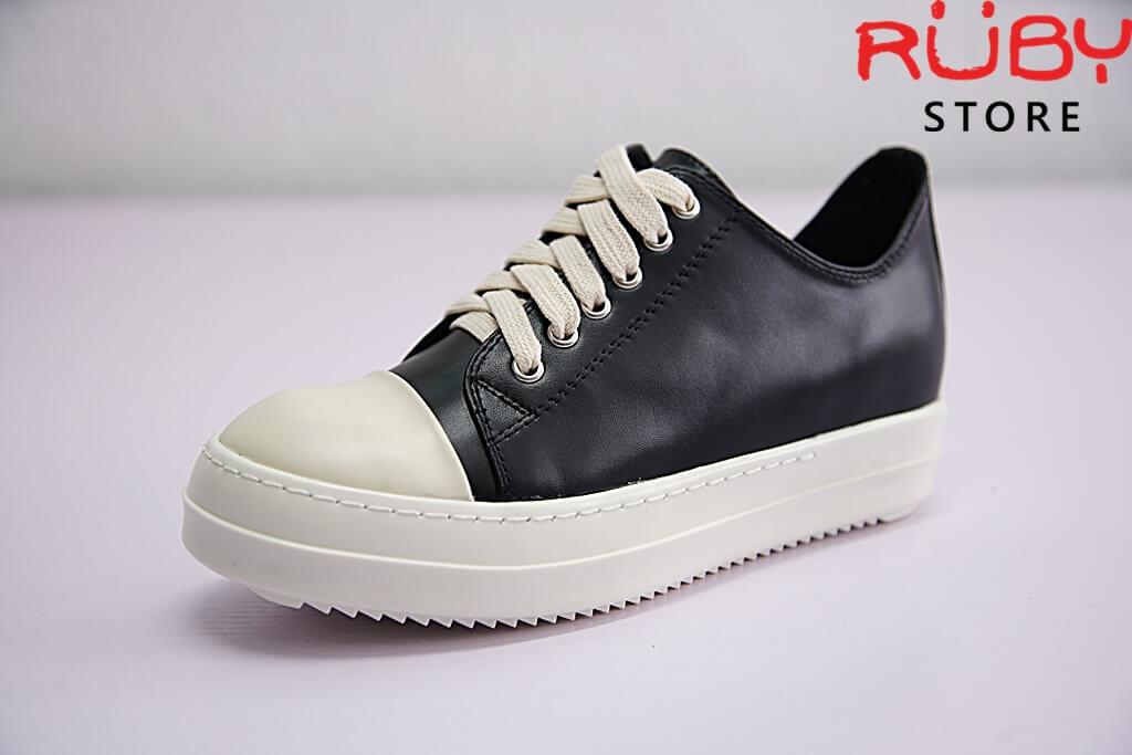 giày rick owen cổ thấp da replica 1:1 - Ruby store 2