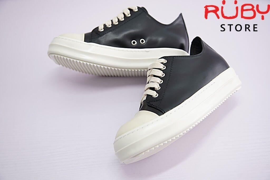 giày rick owen cổ thấp da replica 1:1 - Ruby store