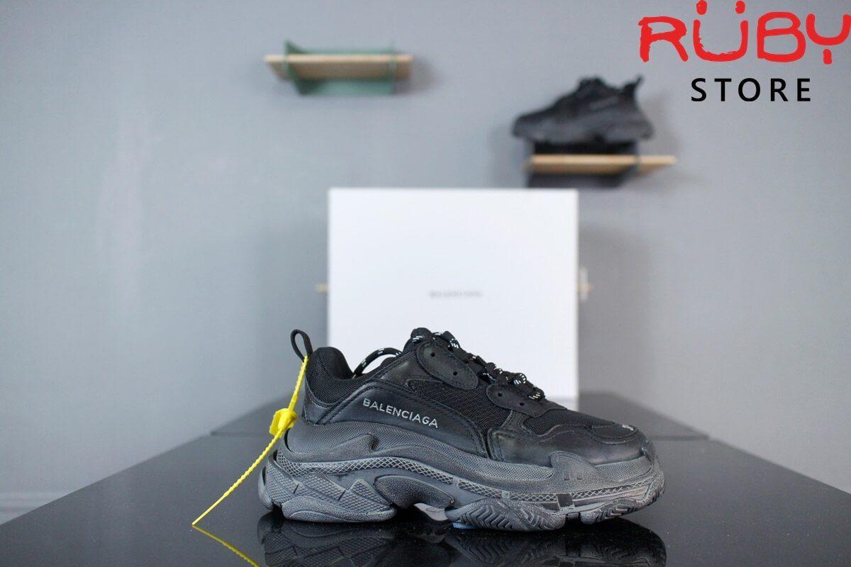 giày balenciaga triple s replica 1:1 đen full