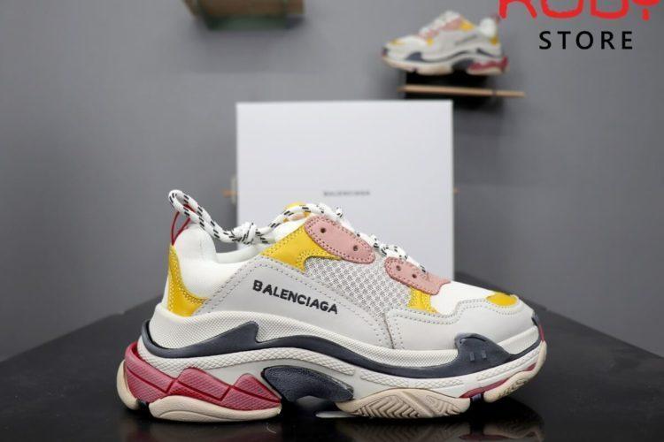 giày balenciaga triple s replica 1:1 trắng hồng