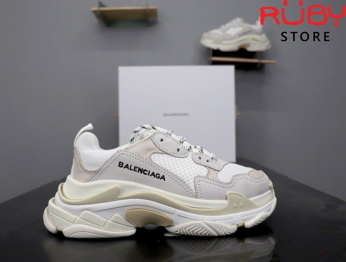 giày balenciaga triple s trắng replica 1:1