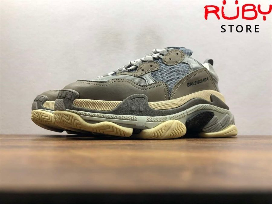 giày balenciaga triple s replica 1:1 xám