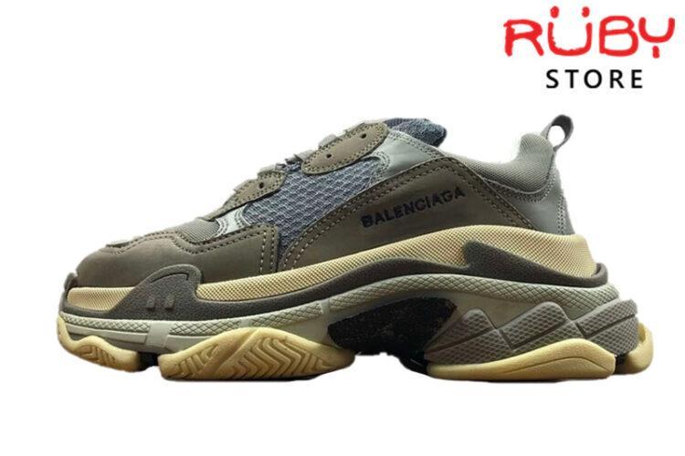 Giày Balenciaga Triple S Xám Đen Replica 1:1
