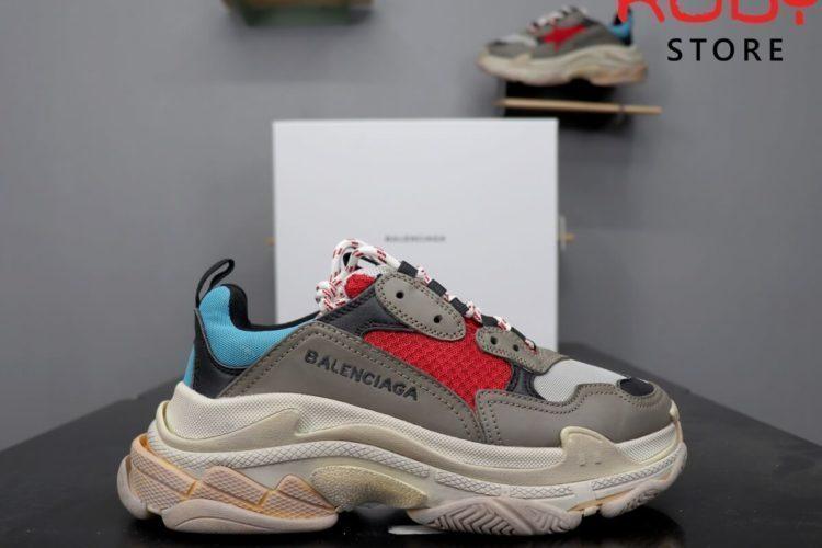 giày balenciaga triple s xanh đỏ replcia 1:1