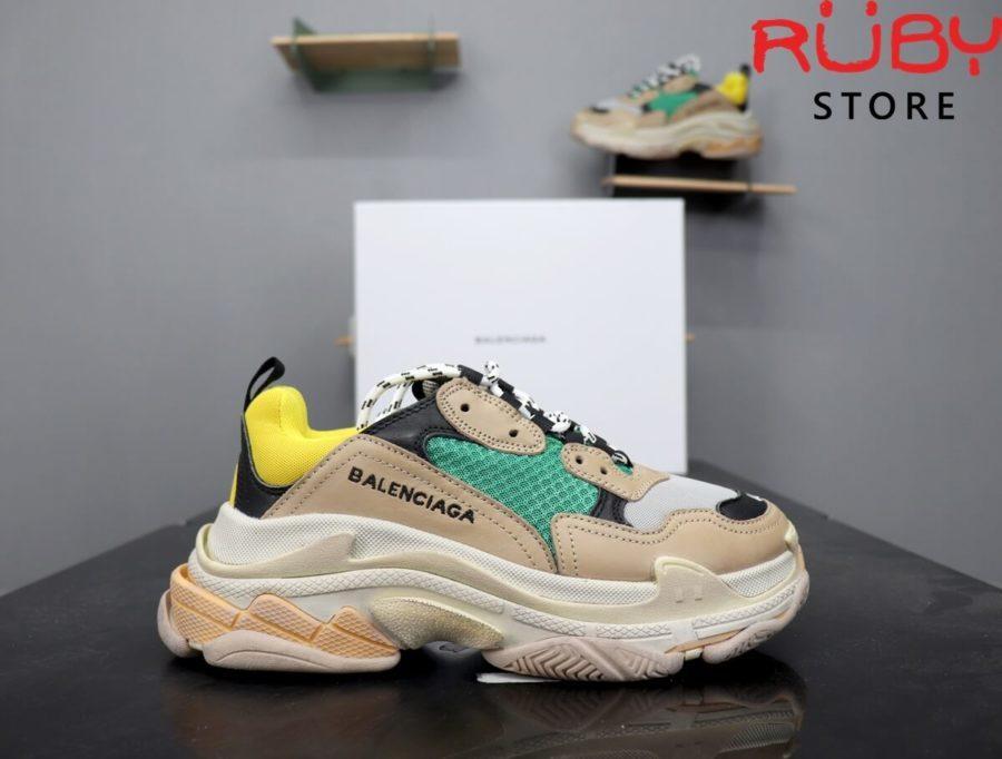 giày balenciaga triple s xanh vàng replica 1:1