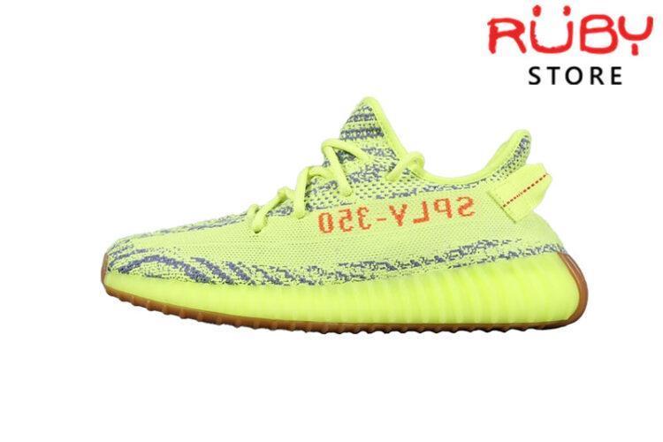 Giày Yeezy 350 V2 Semi Frozen Yellow Xanh Đen