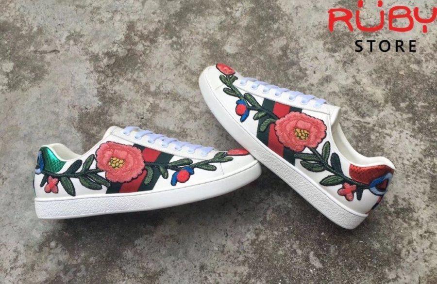 Giày Gucci Thêu Hoa (1)