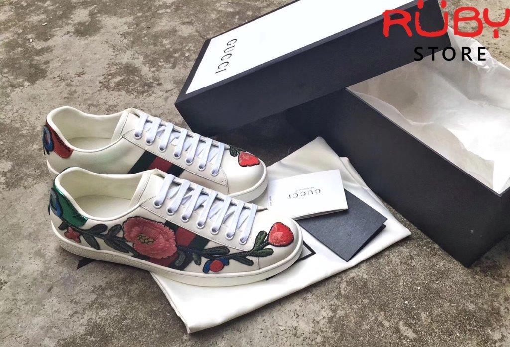 Giày Gucci Thêu Hoa (6)