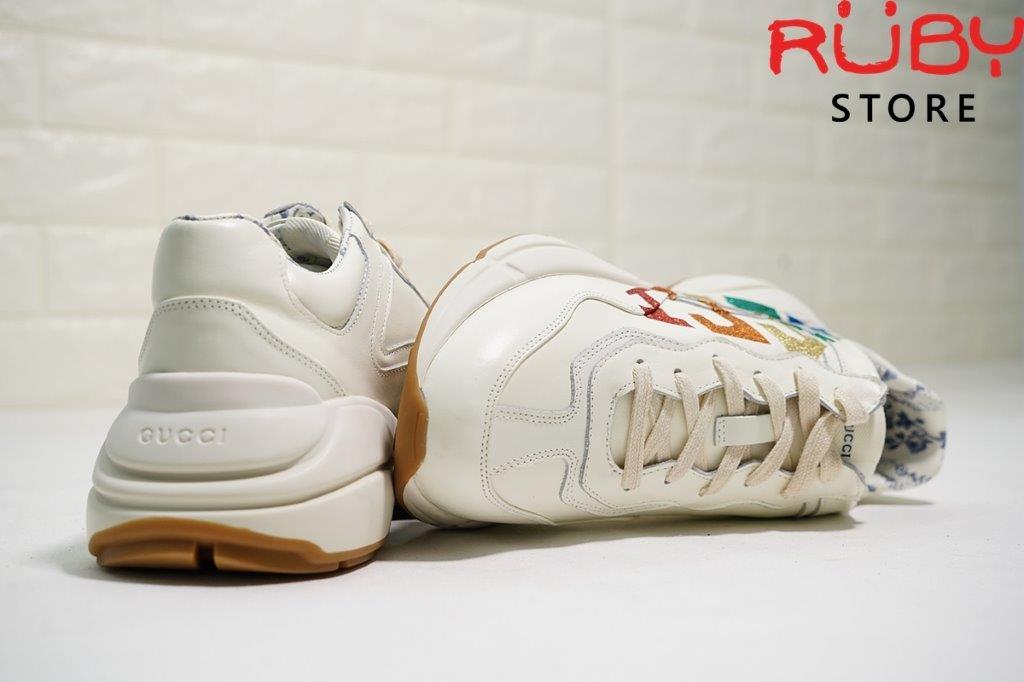 Giày Gucci Rhyton Glitter leather sneaker
