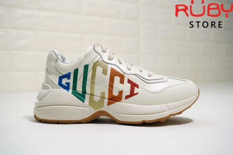 RHYTON GLITTER GUCCI LEATHER SNEAKER (4)
