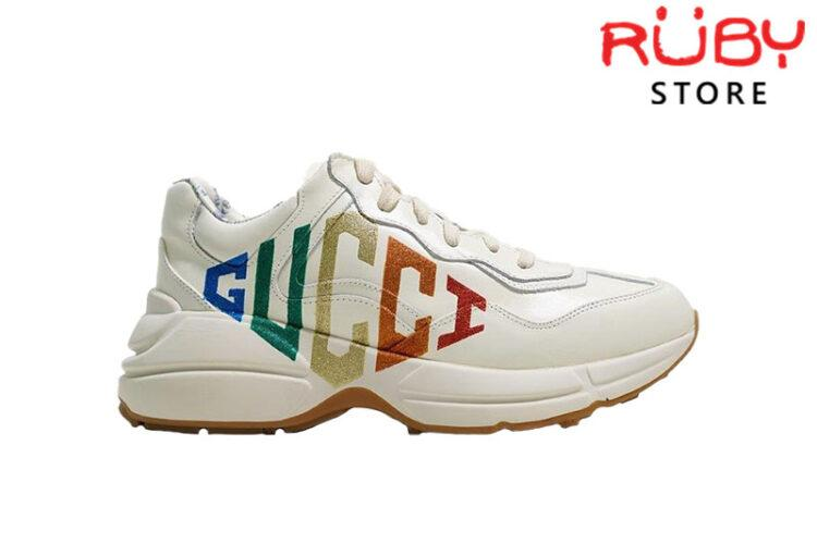 Giày Gucci Rhyton Glitter Gucci Leather Sneaker Cao Cấp