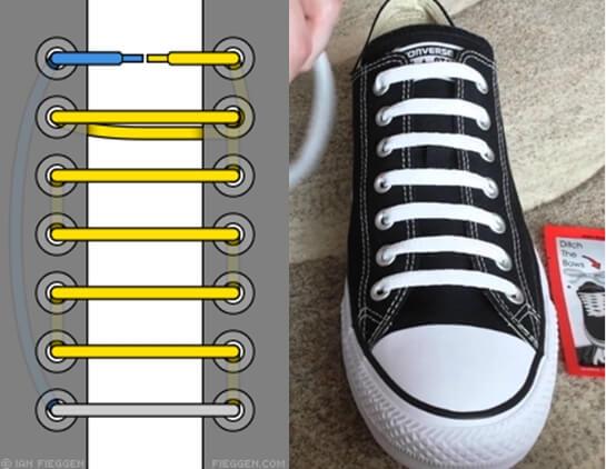 Cách thắt dây giày 5 lỗ đẹp và đơn giản cho giày Sneaker
