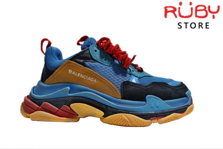 giày-balenciaga-triple-s-xanh-vàng