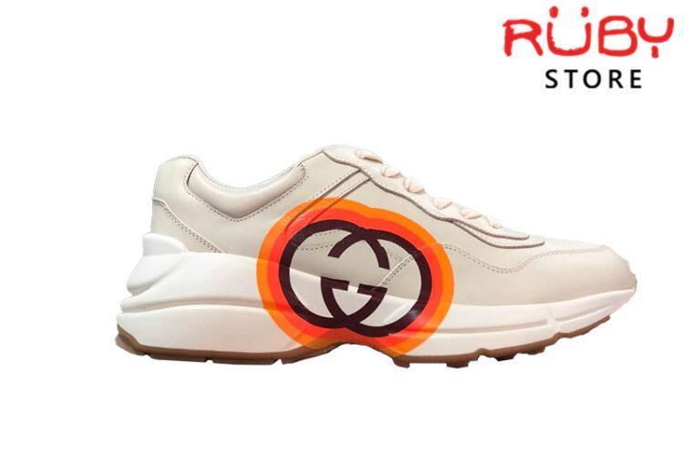 Giày Gucci Rhyton Logo Cam Replica 1:1 ( Bản chuẩn nhất 2019)