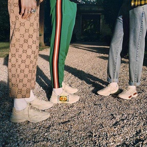 Giày Gucci Rhyton làm từ da thật