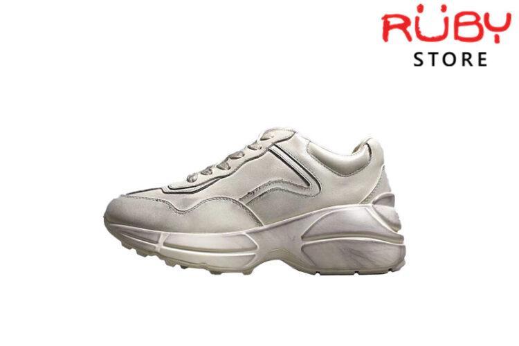 Giày Gucci Rhyton Leather Sneaker Cao Cấp - Trơn Bẩn
