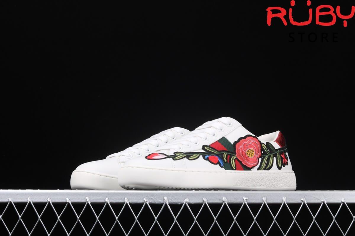 giày gucci thêu hoa replica 1:1 ở hcm