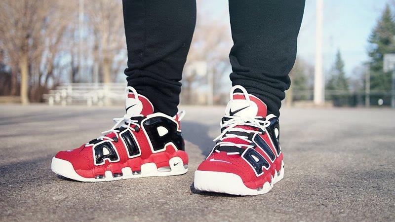 Giày Nike Uptempo màu đỏ đen