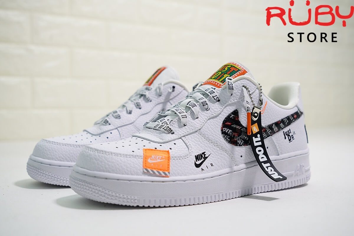 Giày Air Force 1 Just Do It White replica 1:1 tại Ruby Store