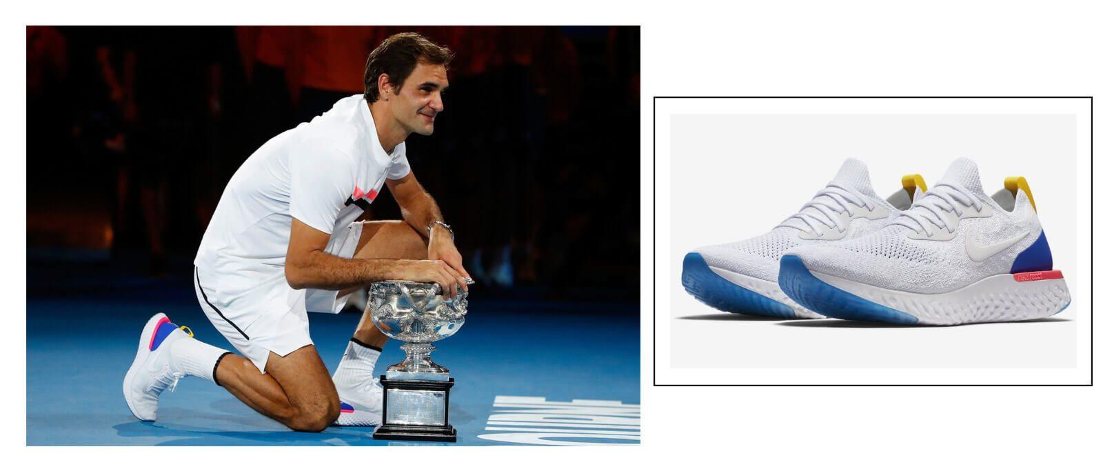 Giày Nike Epic React flyknit cùng ngôi sao Roger Federer
