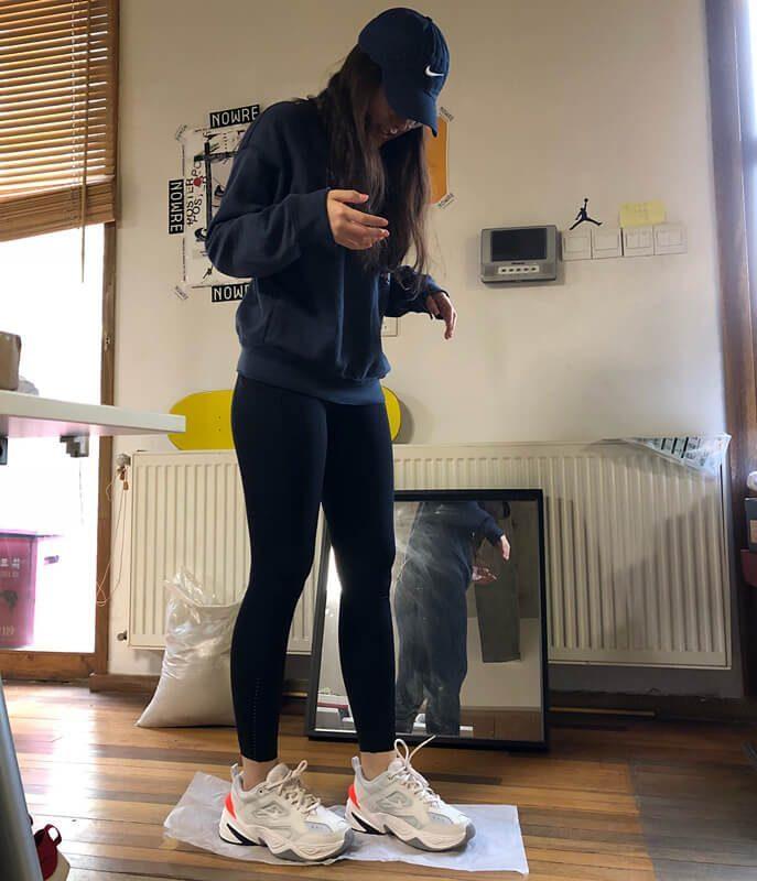 Nike M2k Tekno on feet cho nữ