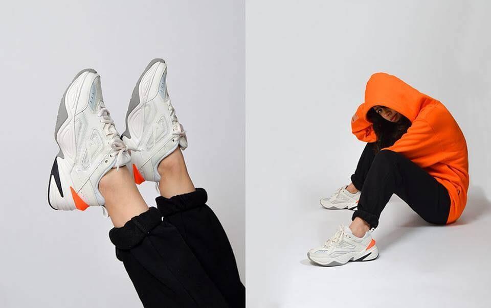Giày Nike M2k Tekno Trắng Cam (White)