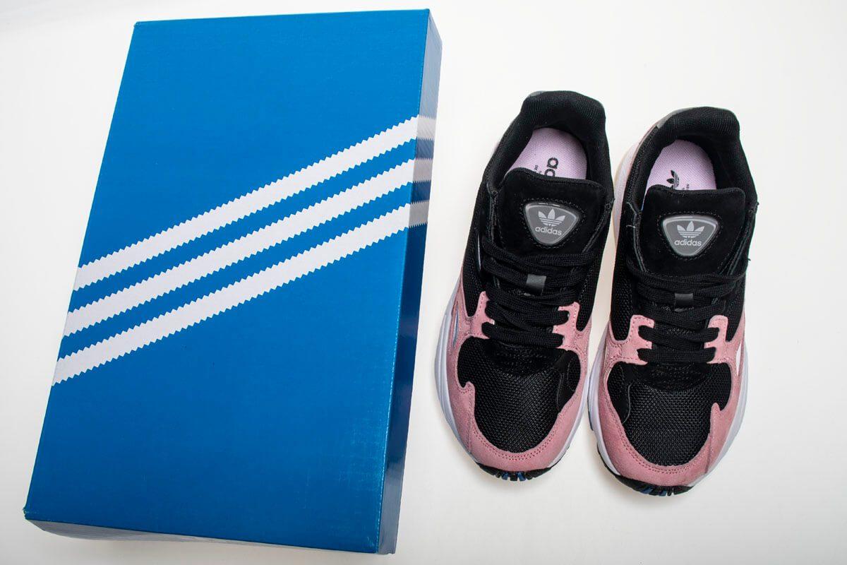 Giày Adidas Falcon Đen Hồng Replica - Ruby Store