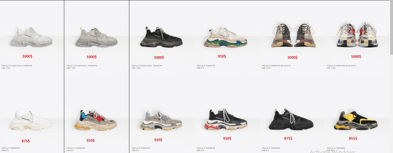 Giày Balenciaga Triple S chính hãng giá bao nhiêu?
