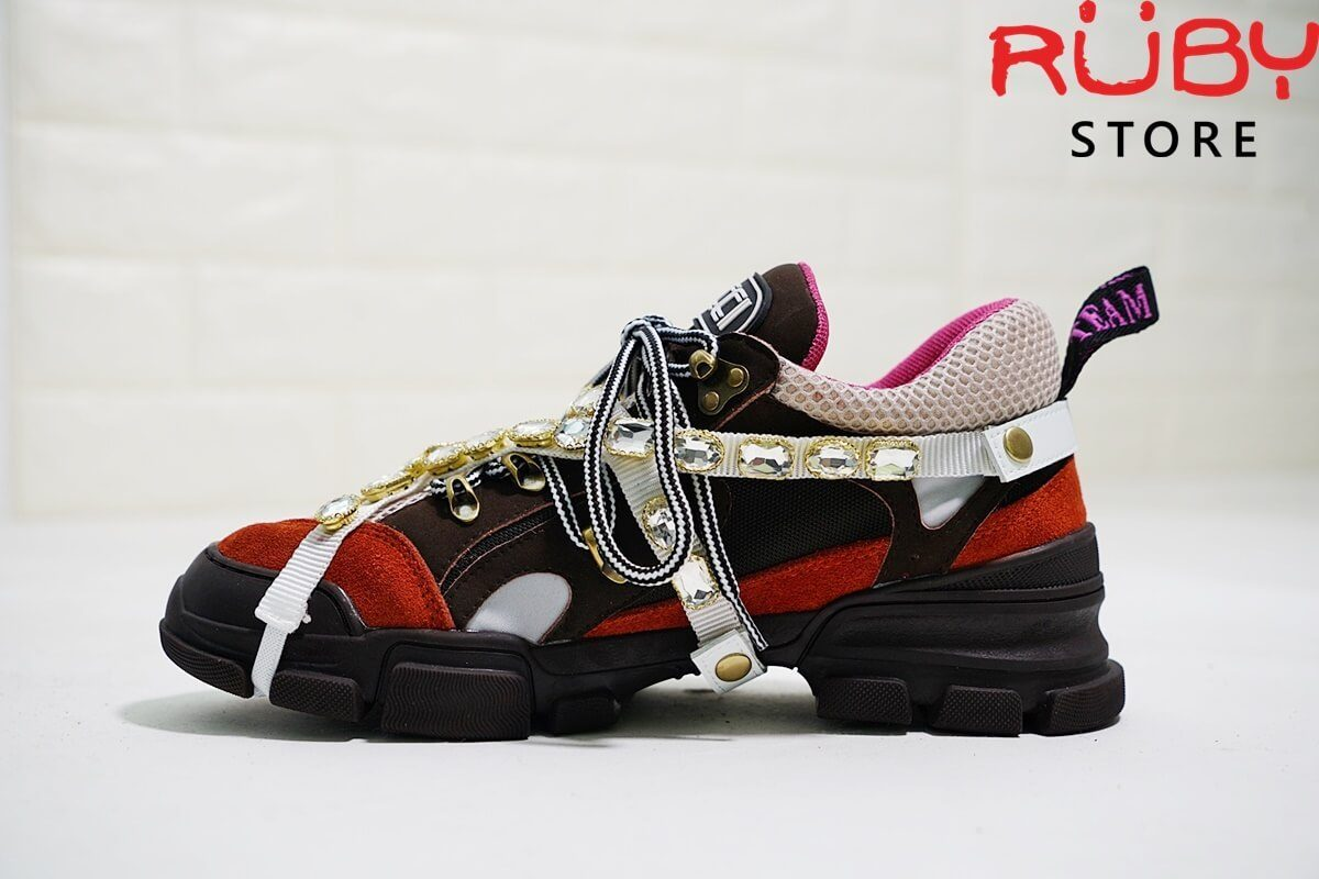 Giày Gucci Flashtrek Sneaker With Removable Crystals Replica 11 Cam (1)