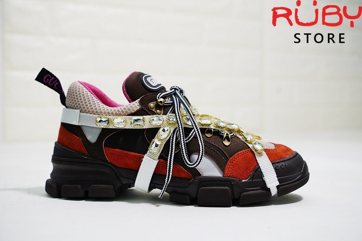 Giày Gucci Flashtrek Sneaker With Removable Crystals Replica 11 Cam (4)