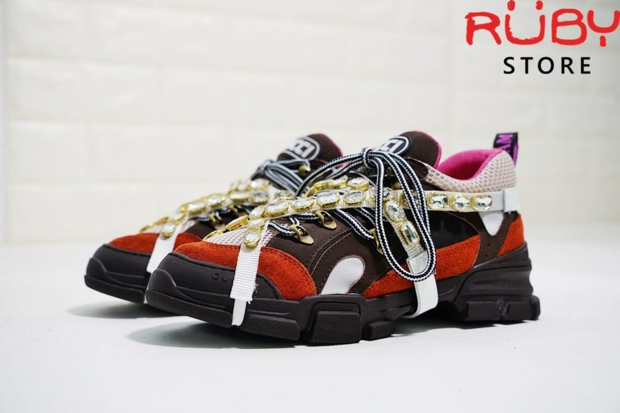 Giày Gucci Flashtrek Sneaker With Removable Crystals Replica 11 Cam (6)
