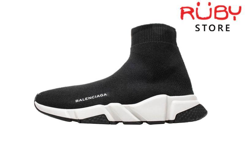 Giày Balenciaga Speed Trainer Đen Đế Đen Replica 1:1 Cao Cấp