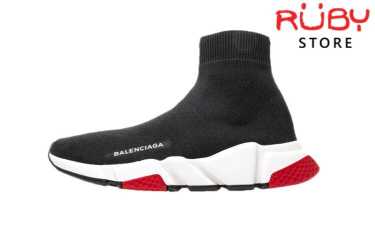 Giày Balenciaga Speed Trainer Đen Đế Đỏ Replica 1:1 Cao Cấp