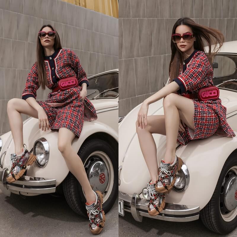 Hồ Ngọc Hà diện Gucci Flashtrek Sneaker cực chất