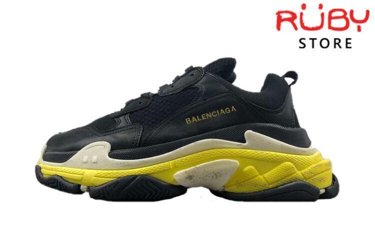 Giày Balenciaga Triple S Đen Vàng Replica 1:1 (New 2019)