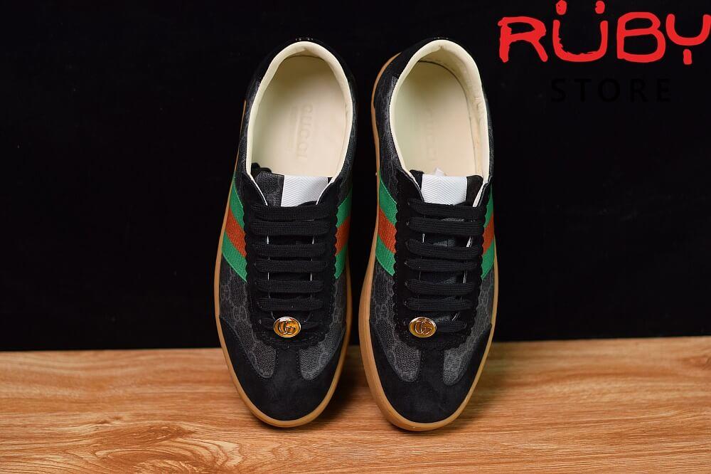 Giày-Gucci- G74-Original-GG-Sneaker-With-Web-Replica-1.1-2019-(Đen) (2)