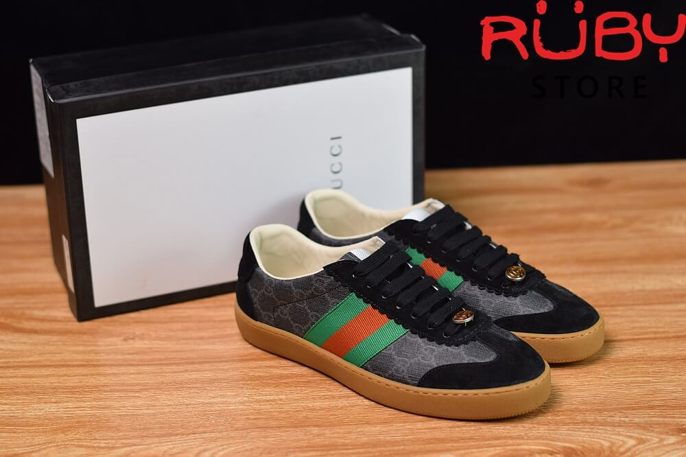 Giày-Gucci- G74-Original-GG-Sneaker-With-Web-Replica-1.1-2019-(Đen) (7)
