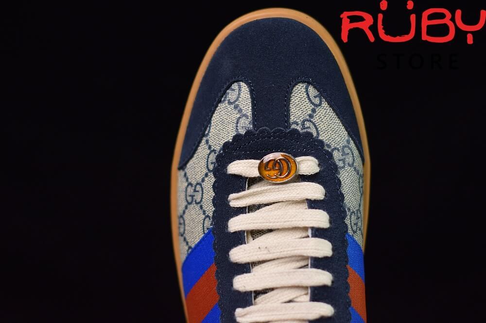 Giày-Gucci- G74-Original-GG-Sneaker-With-Web-Replica-1.1-2019-(Xanh) (7)
