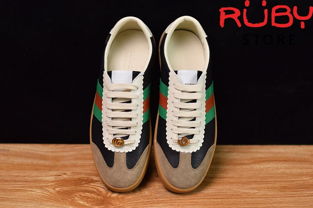 Giày-Gucci-Leather-And-Suede-Web-Sneaker-Replica-1.1-2019-ở-hcm (1)