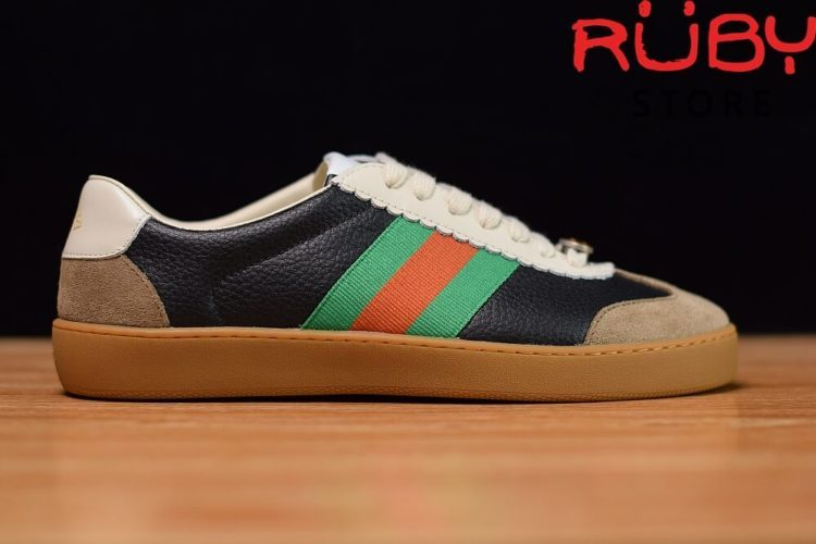 Giày-Gucci-Leather-And-Suede-Web-Sneaker-Replica-1.1-2019-ở-hcm (3)
