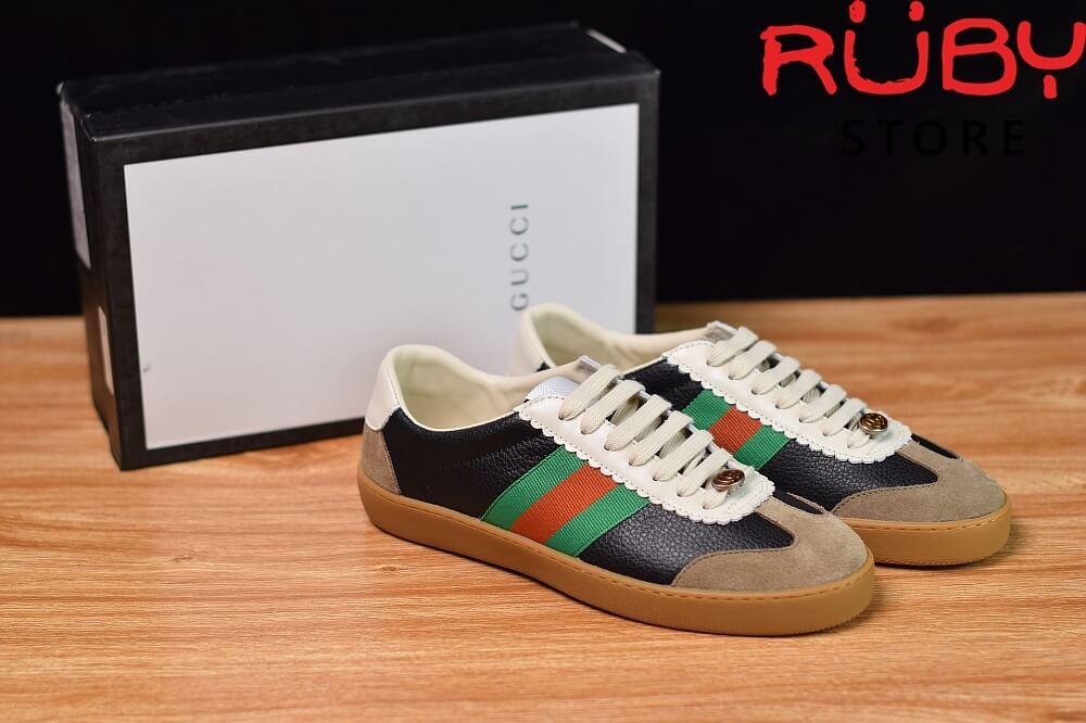 Giày-Gucci-Leather-And-Suede-Web-Sneaker-Replica-1.1-2019-ở-hcm (4)